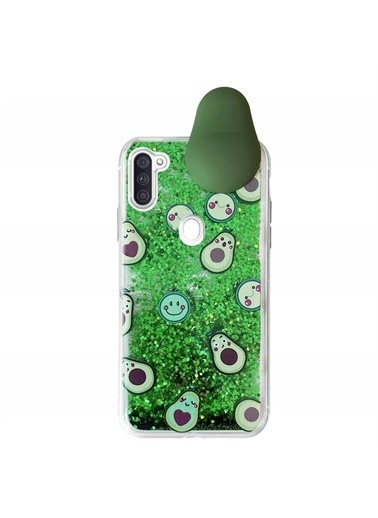Microsonic Samsung Galaxy M11 Kılıf Cute Cartoon Avakado Yeşil